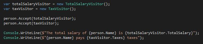 Added the TaxVisitor