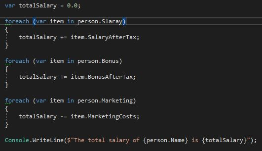 Calculate pay of the person