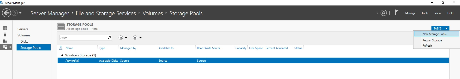 Adding a new Storage Pool to your VM