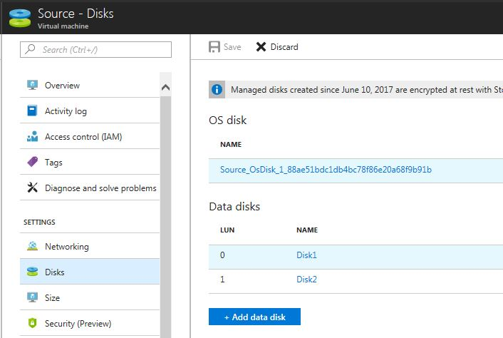 Adding disks to your VM