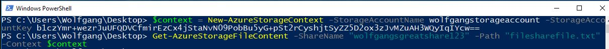 Download a file from your file share using PowerShell