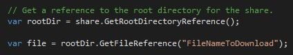 Get a reference to your root directory and to the file you want to download