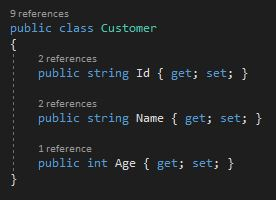 The customer class will be used to add customer to the database