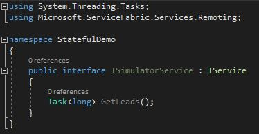 Create the ISimulatorService interface
