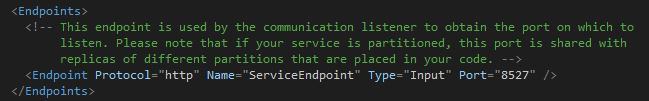 The HTTP endpoint description