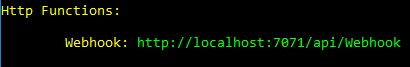 The local URL of your Azure Function