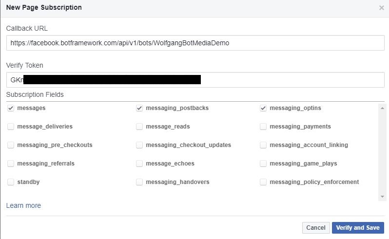 Set up the Callback URL on Facebook