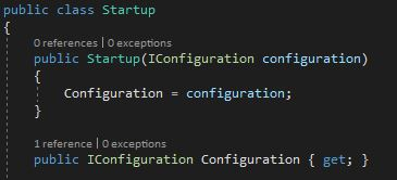 Setting the Configuration in the Startup constructor