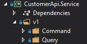 Operations are split in Commands and Queries in CQRS