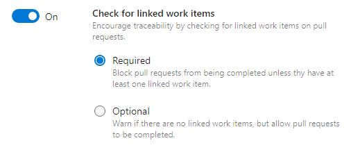 Check for linked work items