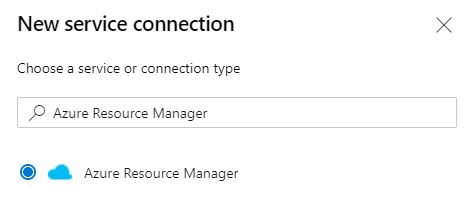 Choose a service connection type