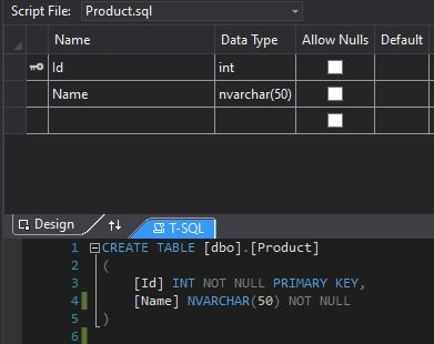 The SQL Designer in Visual Studio
